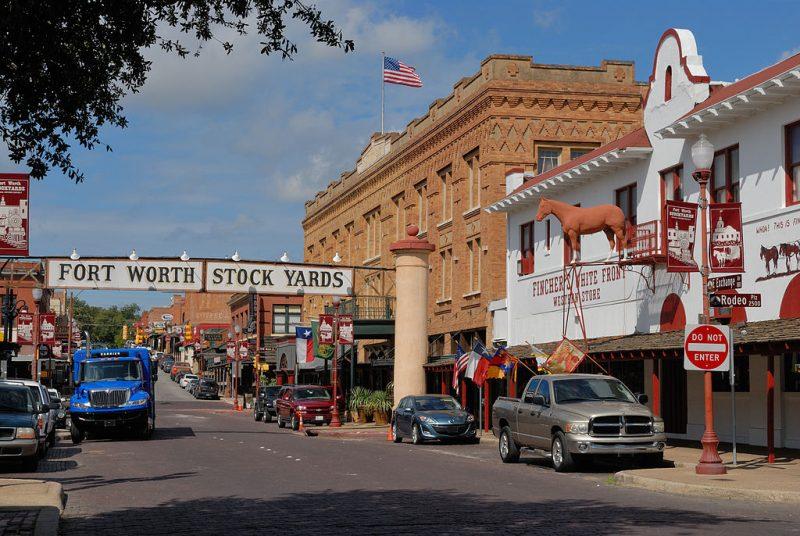 View of Fort Wort Texas Stockyards