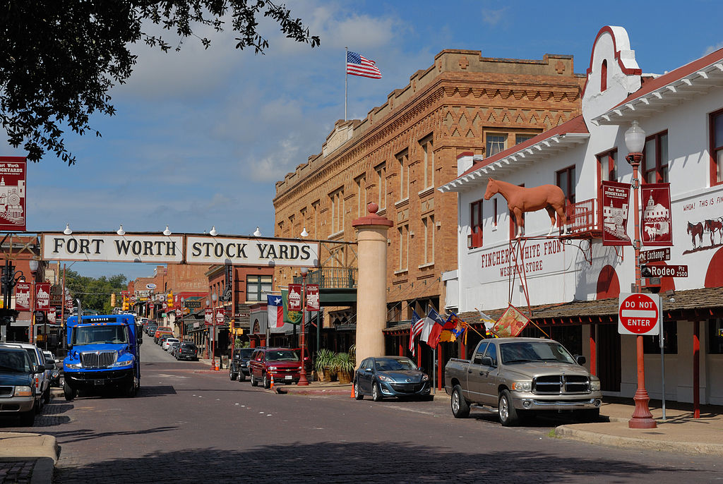 View of Fort Wort Texas Stockyards