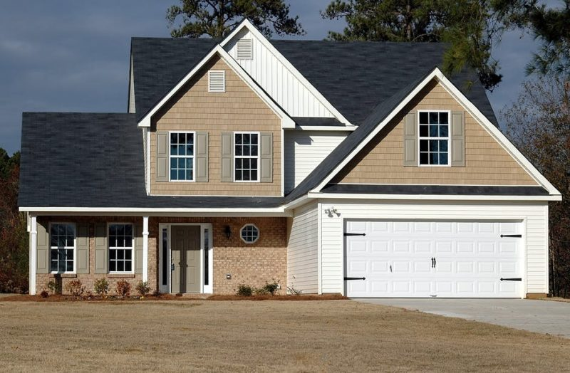 home with 2 car garage