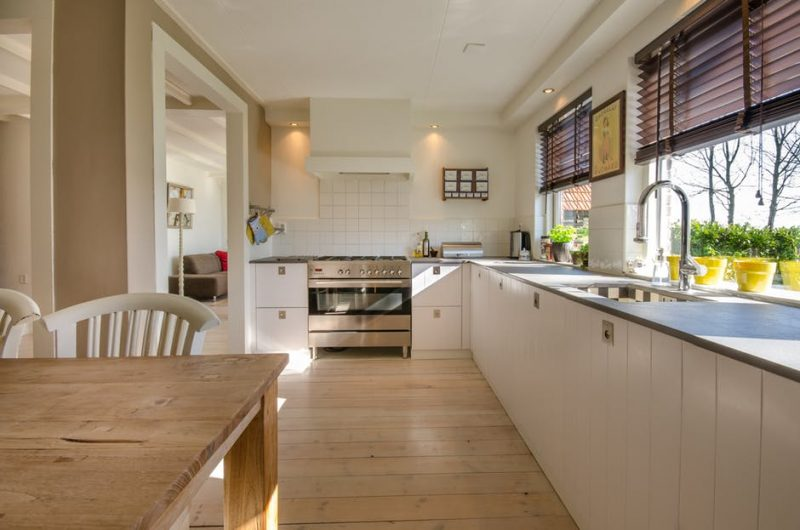 inside of kitchen of listed home